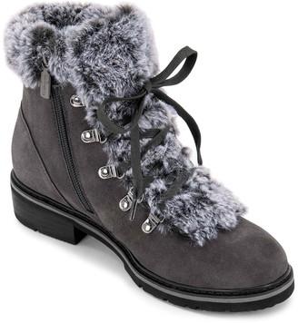 Blondo Veer Waterproof Suede Faux Fur Lace-Up Boot