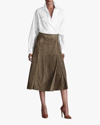 Ralph Lauren Christiane Suede Skirt