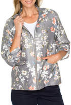 Printed Zip Front Jacket