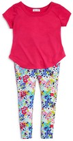 Splendid Girls' Tee & Floral Print Leggings Set - Sizes 2-6X