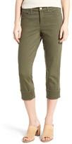 NYDJ Women's Dayla Colored Wide Cuff Capri Jeans