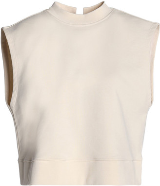 alexanderwang.t Lace-up French Cotton-terry Top