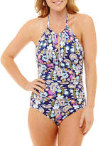 Liz Claiborne Paisley One Piece Swimsuit