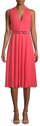 Halston Surplice Knee-Length Dress