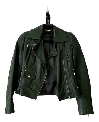 Karen Millen Green Leather Leather Jacket for Women