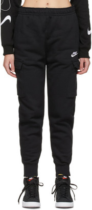Nike Black Fleece Sportswear Club Cargo Lounge Pants