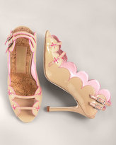 Scalloped Patent Sandal