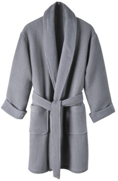 Hotel Collection Cotton Waffle Textured Bath Robe, Created for Macy's Bedding
