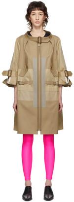 Junya Watanabe Beige Open Neck Trench Coat