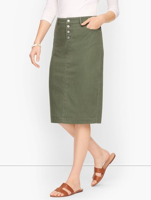 Talbots Denim Pencil Skirt