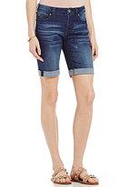 Celebrity Pink Super Stretch Rolled Cuff Denim Bermuda Shorts