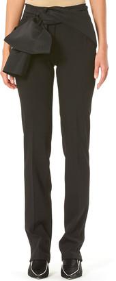 Carolina Herrera Sash-Waist Straight-Leg Pants