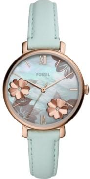 Fossil Women's Jacqueline Mint Leather Strap Watch 36mm