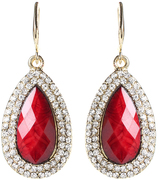 Amrita Singh Red Austrian Crystal & Goldtone Culver Drop Earrings