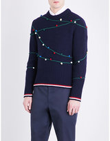 Thom Browne Holiday Pompom Wool Jumper