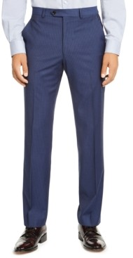 Alfani Men's Red Slim-Fit Performance Stretch Stripe Suit Separate Pants, Created for Macy's