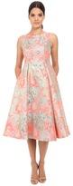 Adrianna Papell Midi Sleeveless Jacquard Party Dress