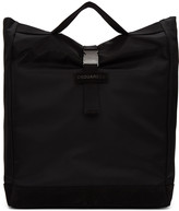 DSQUARED2 Black Nylon Shopper Tote