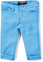 XOXO Marina Blue Stretch Skinny Capri Pants - Girls