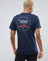 Vans Original Rubber Co T-shirt In Blue Va2xcsnvy