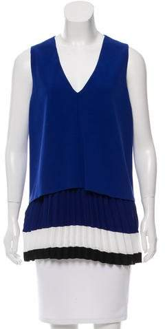 Altuzarra Sleeveless Pleated Top