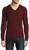 John Varvatos Merino Wool V-Neck Sweater