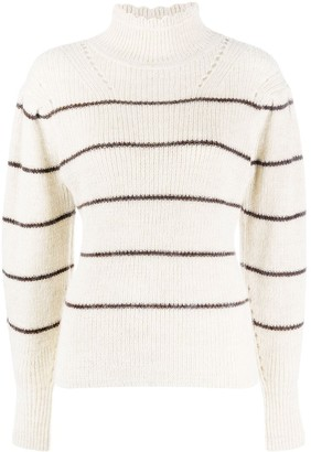 Etoile Isabel Marant Striped Funnel Neck Jumper