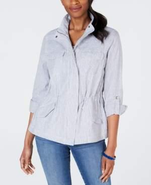 Charter Club Petite Striped Safari Jacket, Created for Macy's