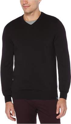 Perry Ellis Men End-On-End V-Neck Sweater