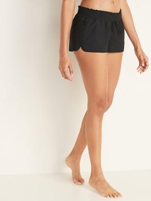 Old Navy Smocked-Waist Board Shorts for Women -- 1.5 inseam