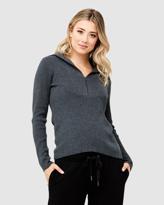 Ripe Maternity Women's Jumpers - Georgia Zip Up Knit - Size One Size, XS at The Iconic