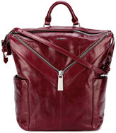 Diesel zip detail backpack - women - Calf Leather/Brass - One Size