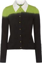 Moschino Cheap & Chic Moschino Cheap and Chic Two-tone stretch-cotton cardigan