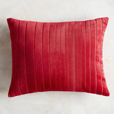 Pier 1 Imports Velvet Striped Red Lumbar Pillow