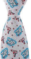 Original Penguin Laser Zap Comic Novelty Print Skinny Cotton Tie