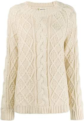 Semi-Couture Semicouture chunky cable knit jumper
