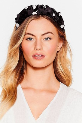 Nasty Gal Womens Spot Talkin' About Me Satin Knot Headband - Black - One Size