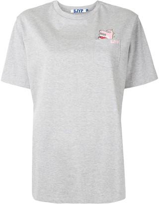 Sjyp dinosaur pocket T-shirt