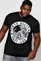 boohoo Big And Tall Black All Stars T-Shirt