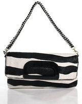 Elaine Turner Designs Black Calf Hair Animal Print Shoulder Handbag Size Small