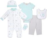 Cutie Pie Baby Mint & Gray Elephant Footie Set - Infant