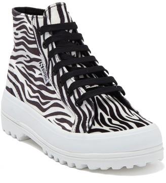 Superga 2341 Zebra High Top Sneaker
