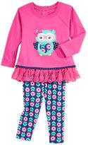 Nannette Baby Girls' 2-Pc. Owl Tunic & Leggings Set