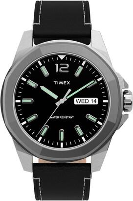 Timex Essex Avenue Leather Strap Watch, 44mm