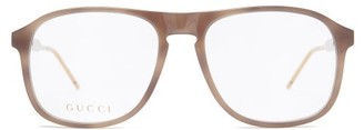 Gucci Square Acetate Glasses - Brown
