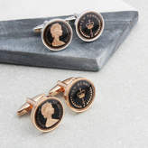 Charlie Boots Personalised 41st Enamelled Halfpenny Coin Cufflinks