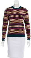Kenzo Geometric Pattern Crew Neck Sweater