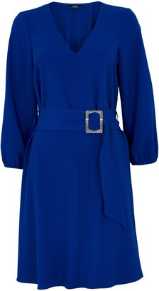 Wallis Blue Buckle Detail Dress