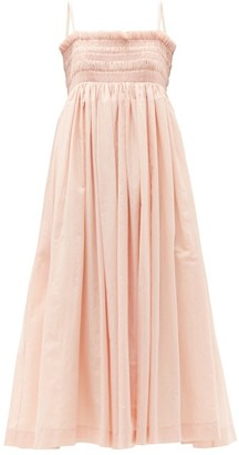 Molly Goddard Becky Hand-smocked Cotton-voile Dress - Light Pink