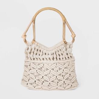 Universal Thread Floral Print Inside Pocket with Zipper Tote Handbag - Universal ThreadTM Natural